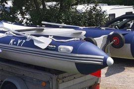 Schlauchboot 3,8m mit Aluboden, 15PS AB + Zubehör, € 1.700,00